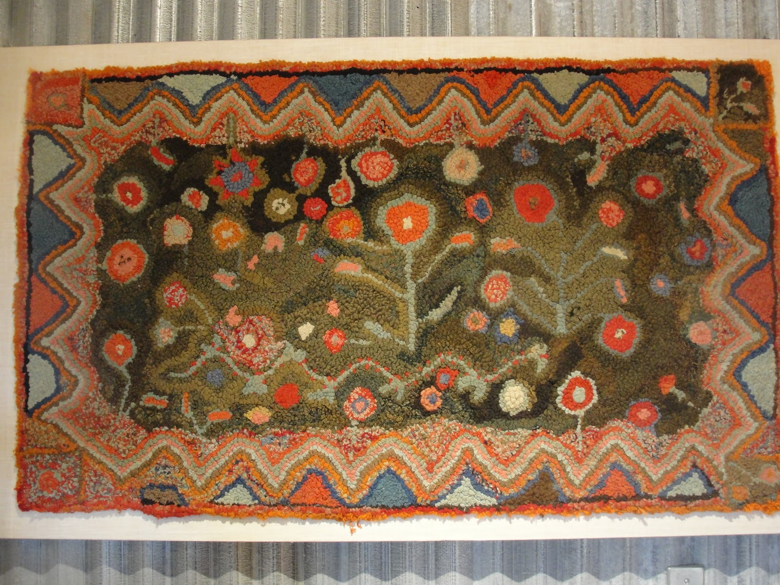 Cozy Hooked rugs at  vintage hooked rugs