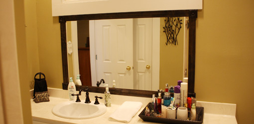 Cozy How to Add a Wood Frame to a Bathroom Mirror | Todayu0027s Homeowner wood framed bathroom mirrors