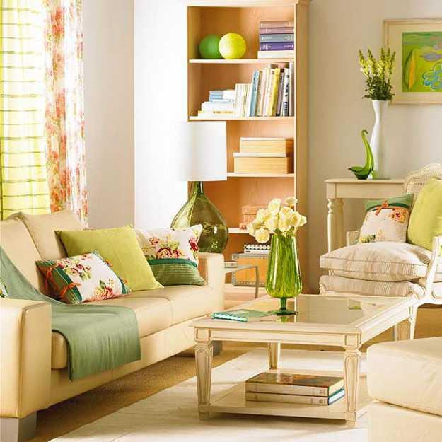 Cozy Living room, Spring Decorating Living Room Design Green Color 1 10 Reasons living room decorative accessories
