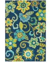 Cozy Loloi Ventura Indoor / Outdoor Rug - Blue / Green loloi indoor outdoor rugs