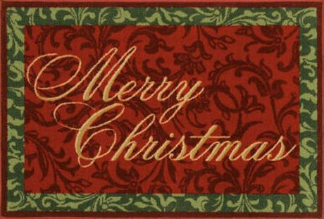Cozy Merry Christmas Rug large christmas rugs