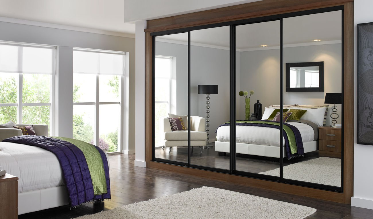 Cozy Mirror Sliding Closet Doors Inspired mirrored sliding wardrobe