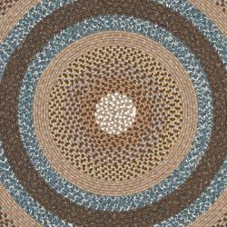 Cozy ... Safavieh Hand-woven Country Living Reversible Brown Braided Rug (8u0027  Round) round woven rug