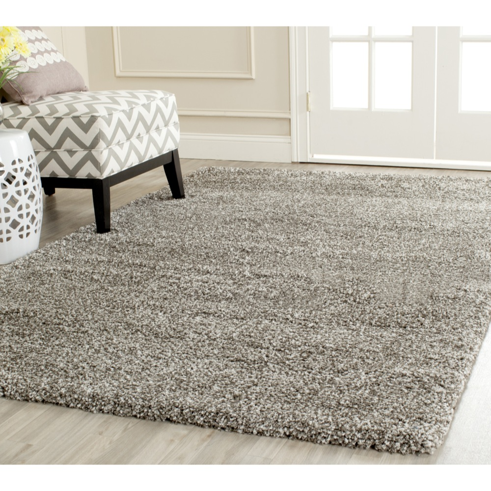 Cozy Safavieh-Power-Loomed-GREY-Plush-Shag-Area-Rugs- plush area rugs