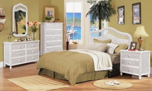 Cozy Santa Cruz White Wicker Bedroom white wicker bedroom furniture
