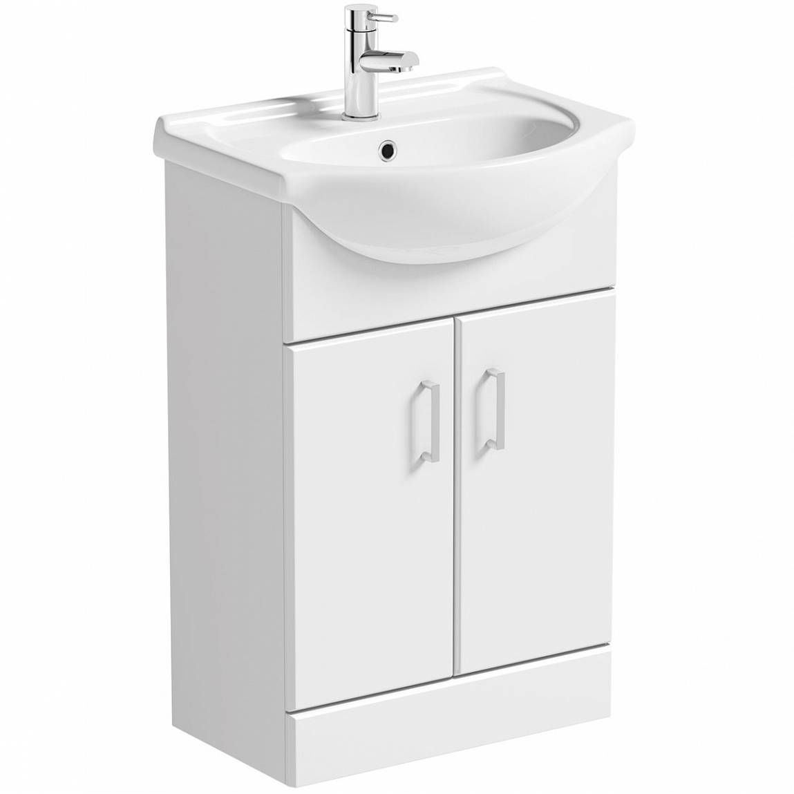 Cozy Sienna white vanity unit with basin 550mm vanity unit with basin