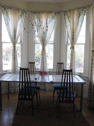 Cozy Sofas as Art: Original, Exquisite u0026 Envy Inducing. Bay Window CurtainsSheet kitchen bay window curtains