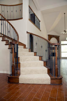 Cozy Solid Color Stair Runner. Berber Carpet Stair Runners