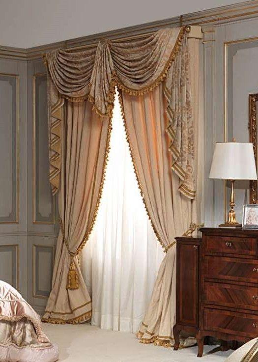 Cozy Swags u0026 Tails Curtain Treatment 2 custom made window treatments