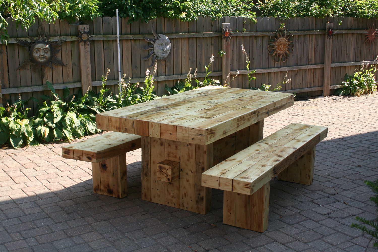 Cozy Unfinished Solid Wood Dining Table solid wood outdoor furniture