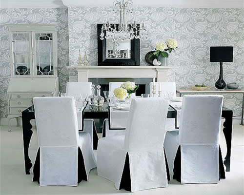 Cozy View in gallery dining room chair covers