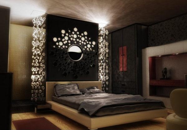Cozy wall mirror and glass bedroom decor accessories are modern interior design bedroom designs modern interior design ideas & photos