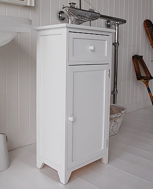Cozy White wooden free standing bathroom cabinet bathroom cupboards freestanding