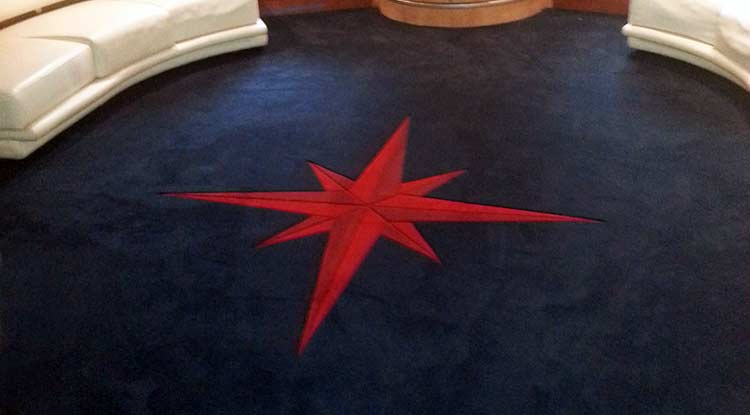 Compact Custom Marine Carpet with Inlaid Design custom marine carpet