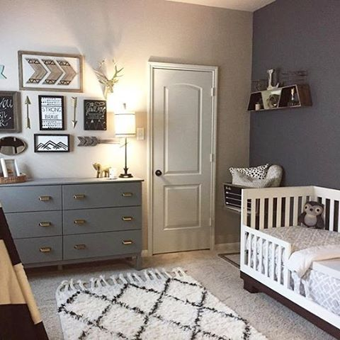 Cute @projectnursery  room design ideas for baby boy