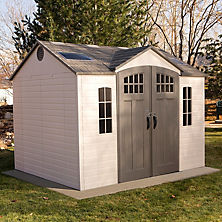 Cute Best Seller Lifetime 10u0027 x 8u0027 Outdoor Storage Shed with Carriage Doors outdoor storage sheds