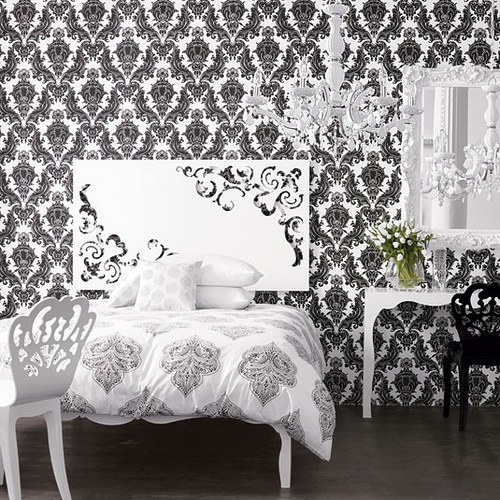 Cute black-and-white-wallpaper-designs-for-walls-2 black and white wallpaper designs for bedrooms