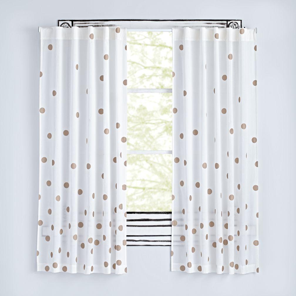 Cute Bronze Dot Curtains nursery blackout curtains