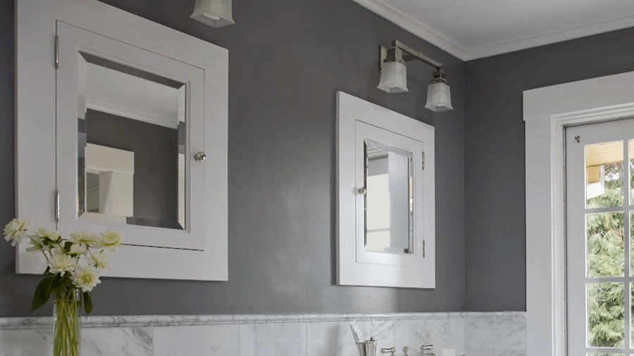 Cute Clean White best gray paint colors for bathroom