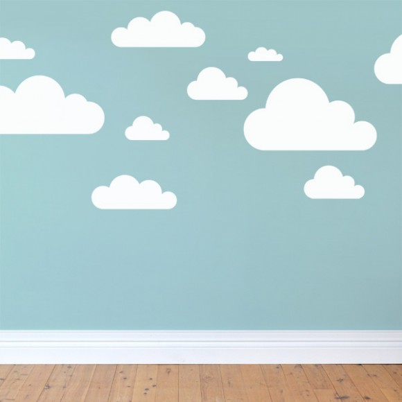 Cute Cloud Wall Stickers for Nursery cloud wall stickers