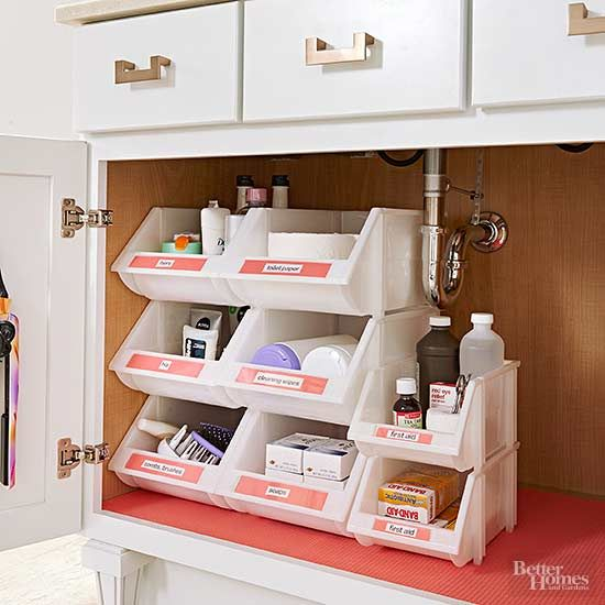 Cute Declutter your bathroom vanity so you have clean countertops and can easily bathroom cabinet organizers