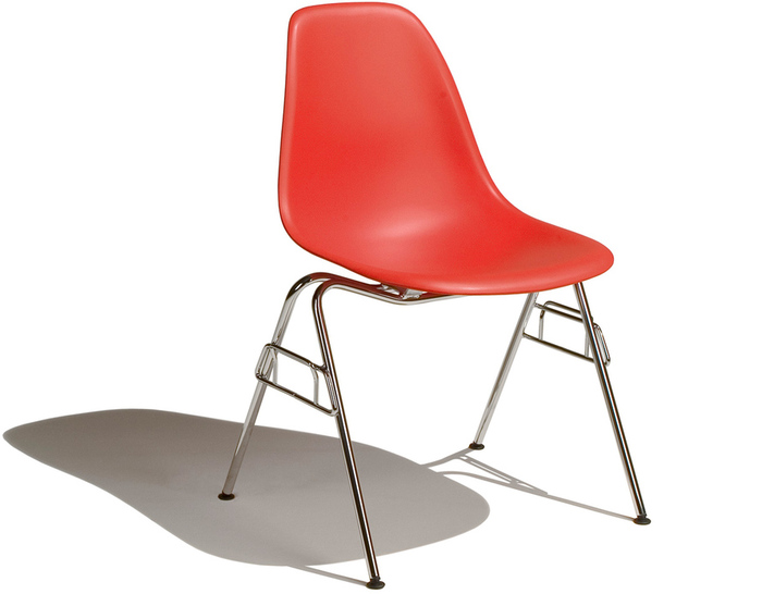 Cute Eames® Molded Plastic Side Chair With Stacking Base plastic stacking chairs