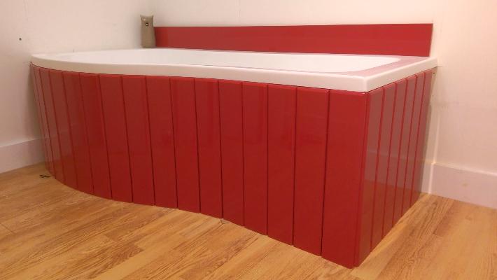 Cute Flexible Bath Panel ideal for P Shaped Shower Baths any colour / finish p shaped bath panel