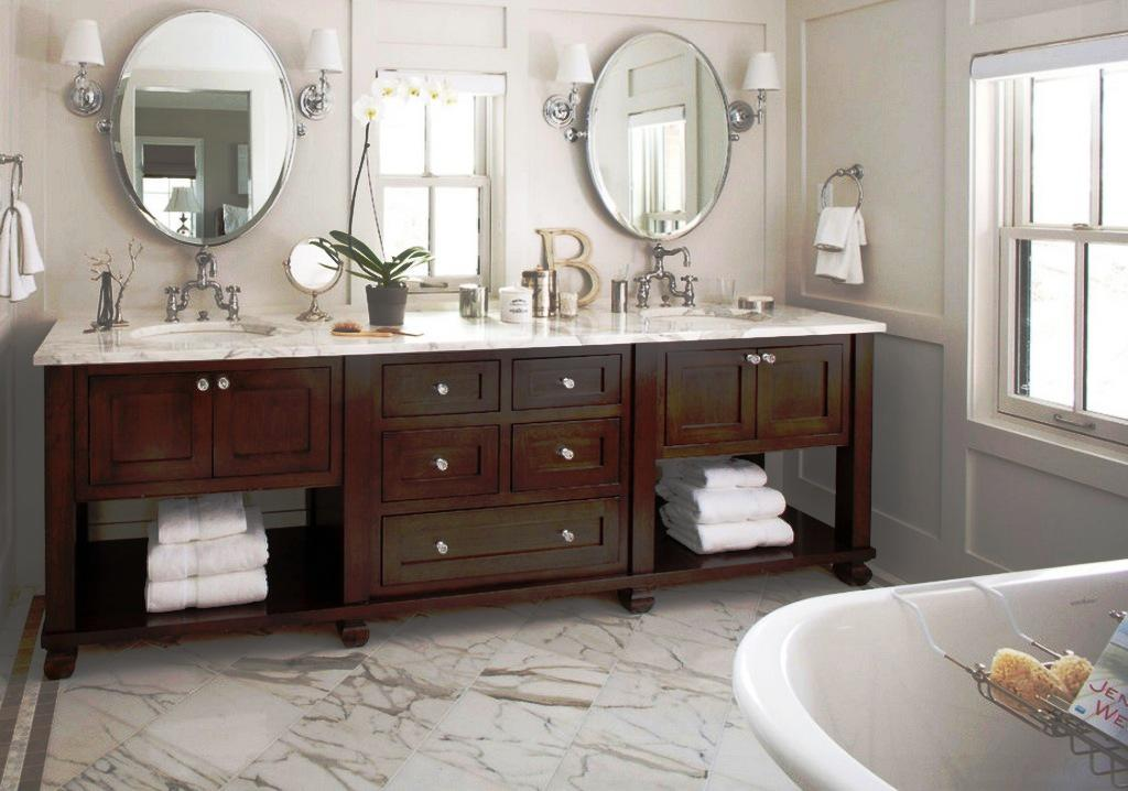 Cute Image of: Frameless Oval Bathroom Mirrors frameless oval bathroom mirrors