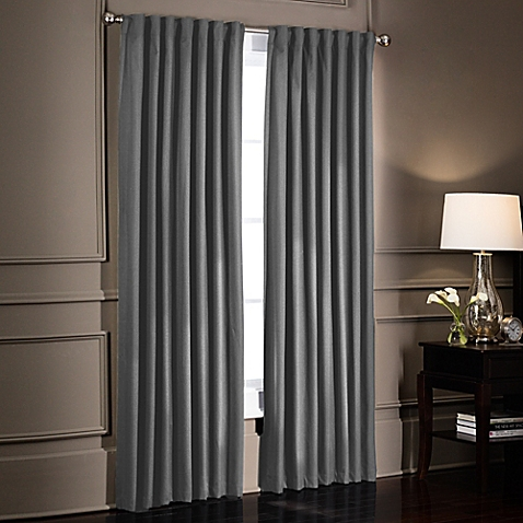 Cute image of SmartBlock™ Rod Pocket Room Darkening Window Curtain Panel window curtain panels