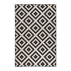 Cute LAPPLJUNG RUTA Rug, low pile - 6 u0027 7  black and white rug