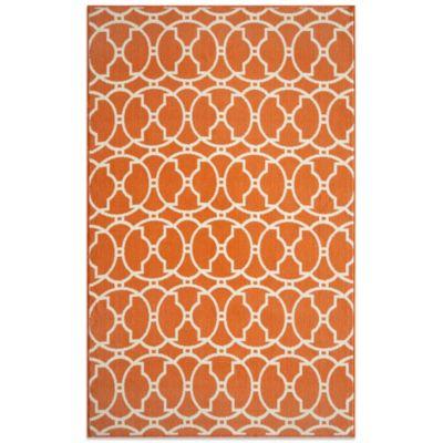 Cute Momeni Baja Indoor/Outdoor Rug in Orange momeni outdoor rugs