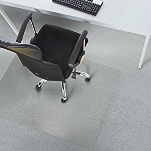 Cute Office Marshal® Polycarbonate Chair Mat for Carpet Floors, High Pile - 36 polycarbonate chair mats for carpet
