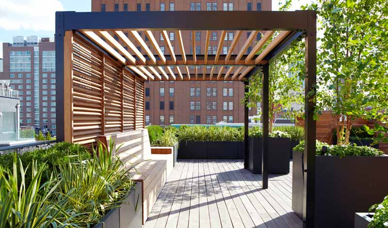Cute Outdoors With Beautiful Steel Pergola Designs | Tuoqiao Wood steel pergola designs