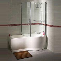 Cute P Shaped Shower Baths Where Creativity Combines Functionality p shaped bath shower screen