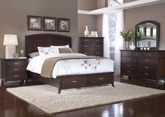 Cute paint colors with dark wood furniture. Bedroom ... dark wood bedroom furniture sets