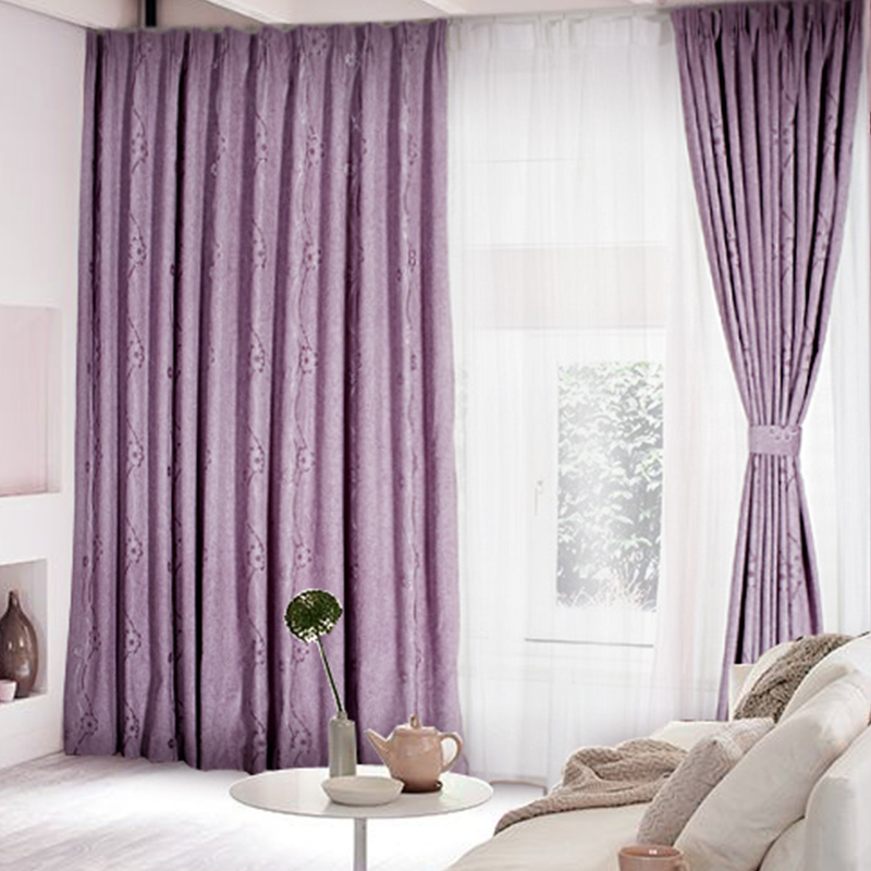 Getting a flowery touch to your rooms with lilac curtains for Cute curtain ideas for living room