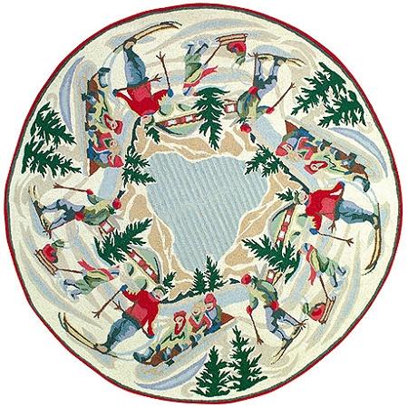 Cute Round Christmas Rugs House Decor Ideas round christmas rugs