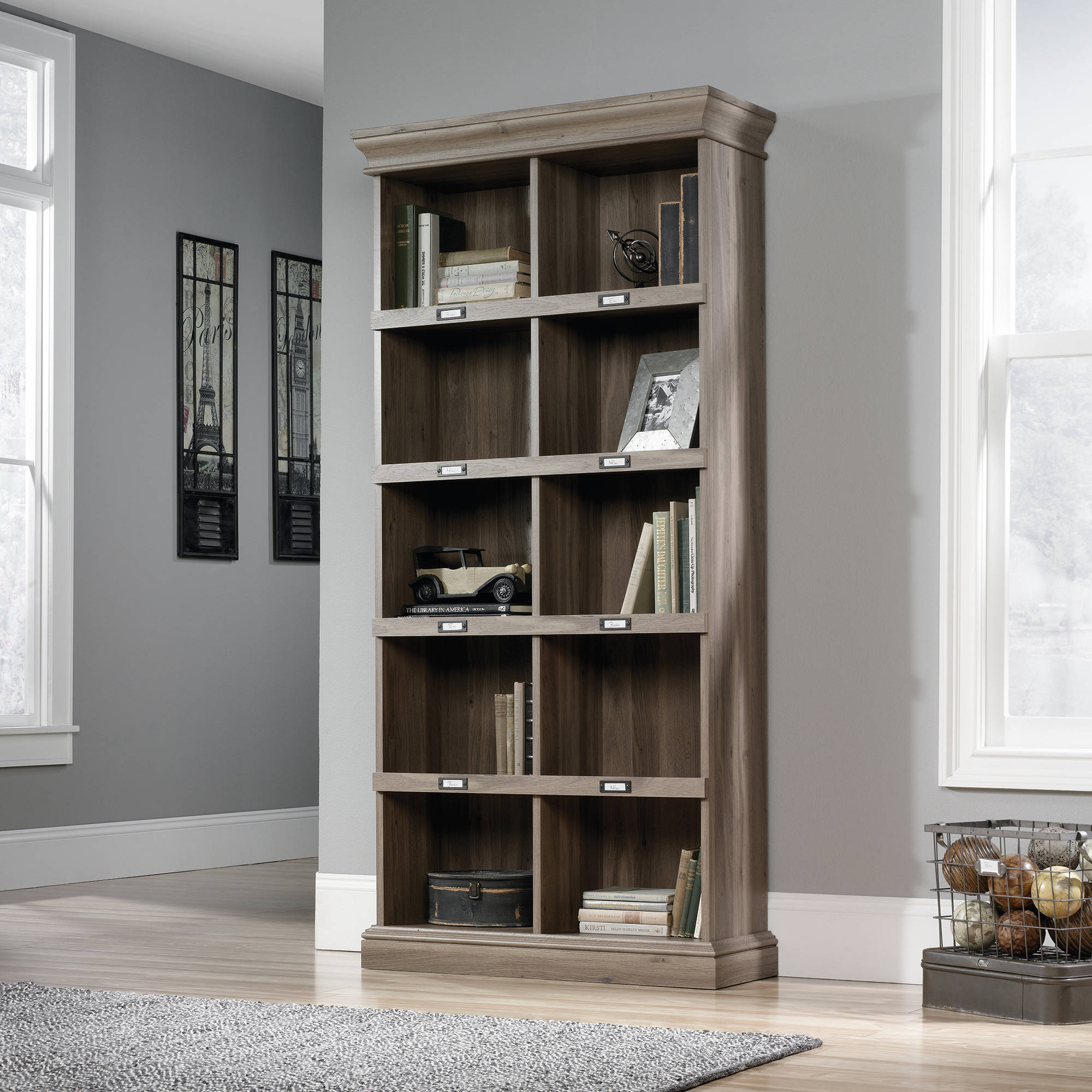 Cute Sauder Barrister Lane Tall Bookcase, Multiple Colors - Walmart.com sauder barrister bookcase