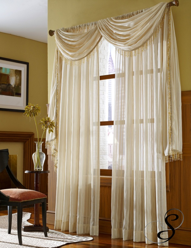 Cute Softline Home Fashions Galano drapes with scarf valance curtain valances for living room