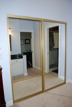 Cute Spray paint the brass on the mirror closet doors? Karau0027s Korner: Closet covering mirrored closet doors