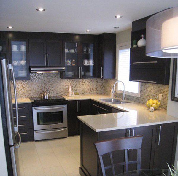 Cute Very small kitchen design ideas that looks bigger and modern #kitchenu2026 modern small kitchen design ideas