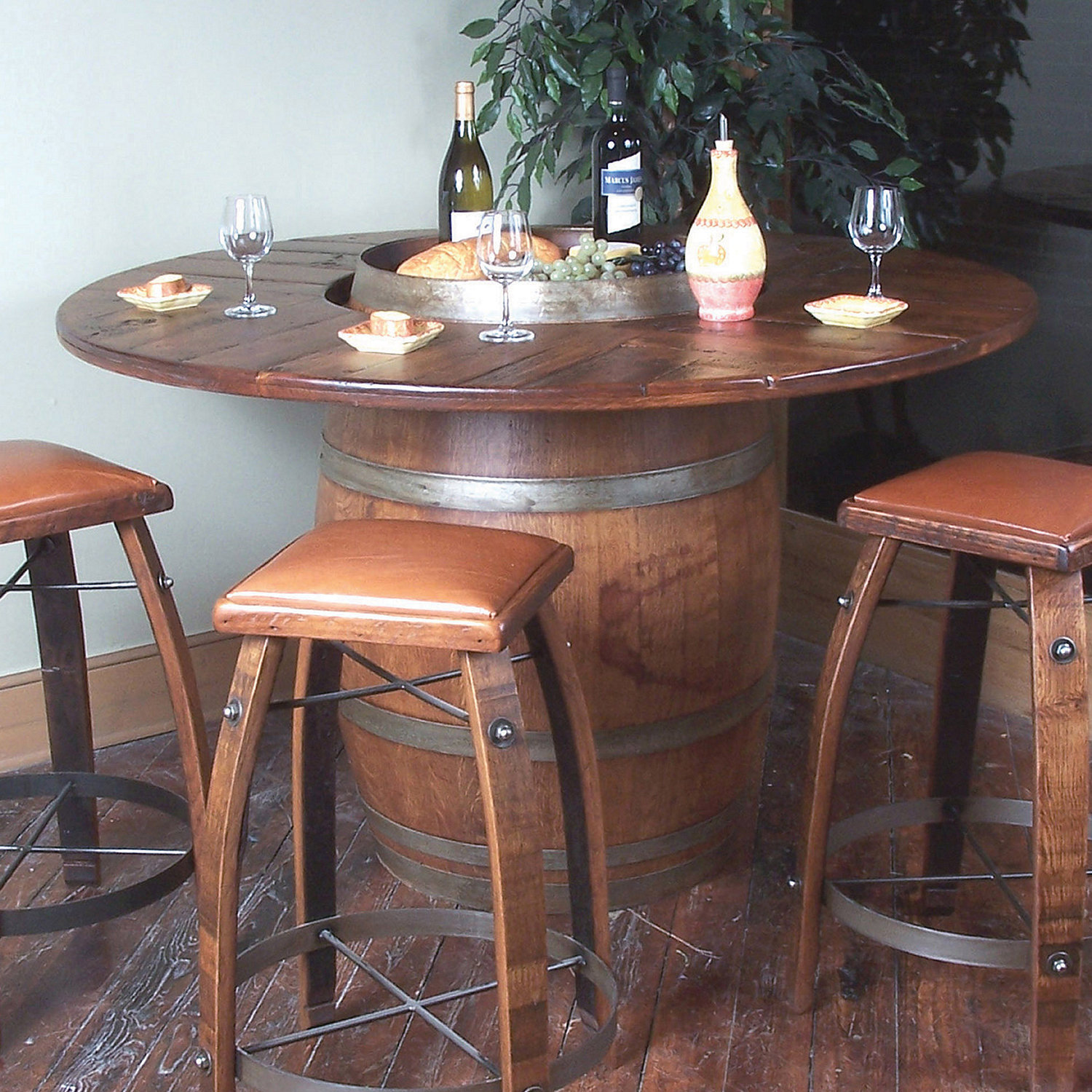 Cute ... Wine Barrel Bistro Table. Preparing Zoom wine barrel furniture