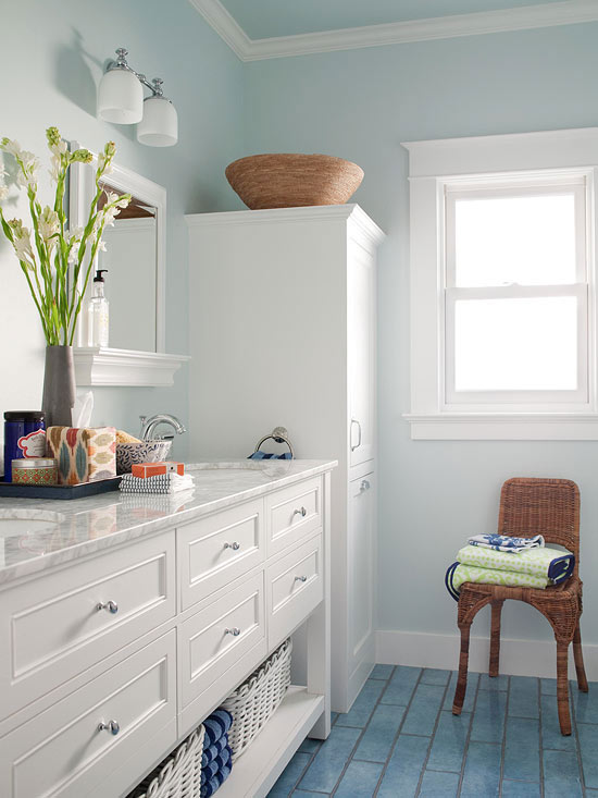 Cute Your trim is also a color in your room, whether itu0027s painted small bathroom paint colors