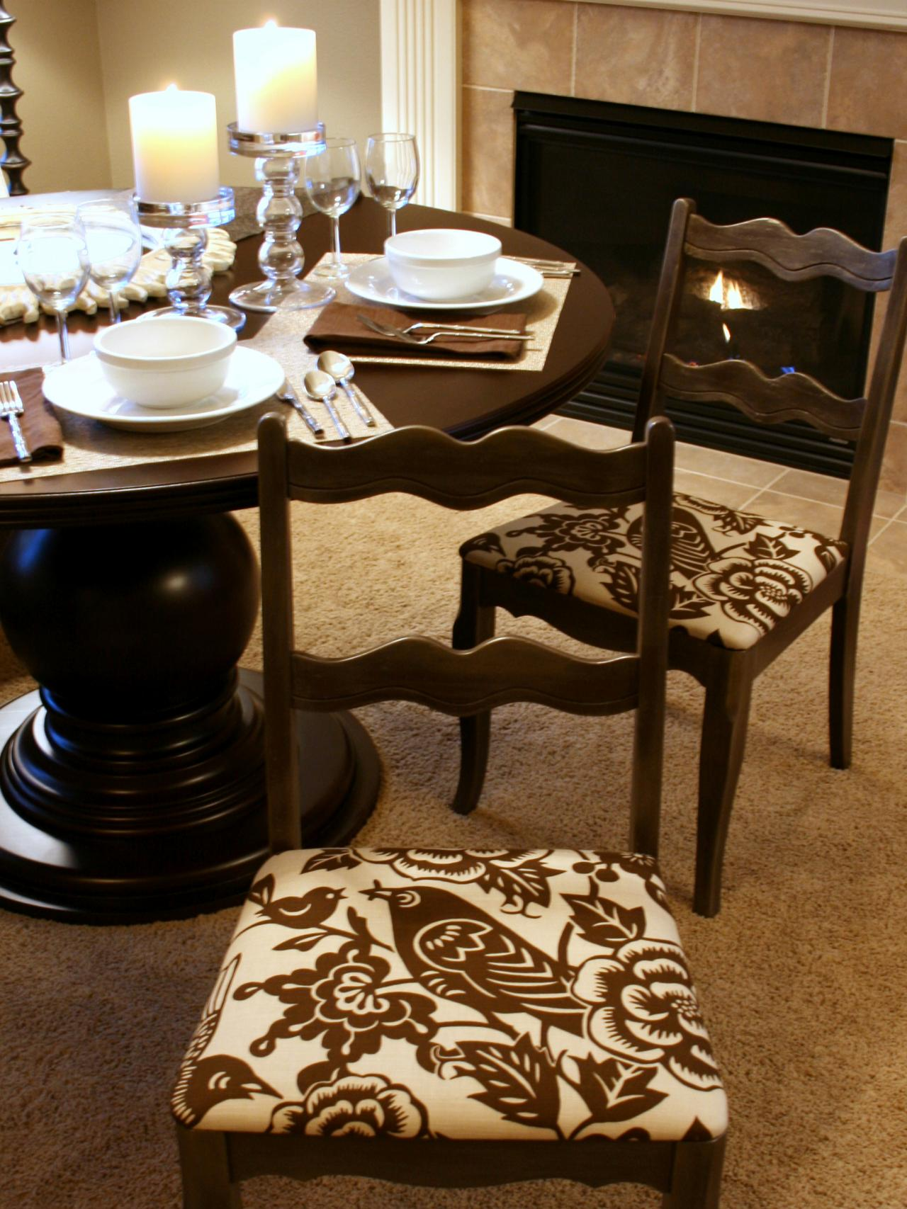 Popular How to Re-Cover a Dining Room Chair dining room chair cushion covers