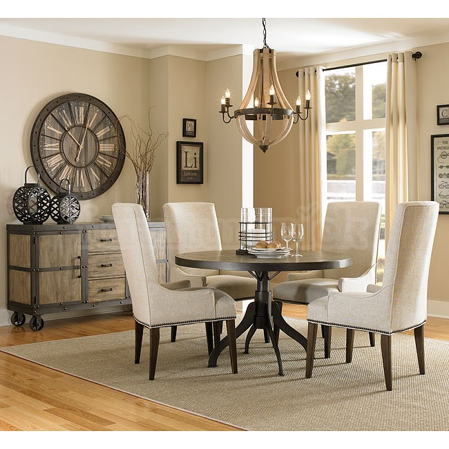 Cool Walton Round Dining Room Set w/ Upholstered Chairs dining room sets with upholstered chairs