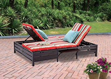 Photos of Double Chaise Lounger - This red stripe outdoor chaise lounge is double chaise lounge outdoor