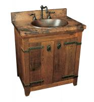 Elegant 30 Inch Single Sink Bath Vanity with Copper Top 30 inch bathroom vanity with sink