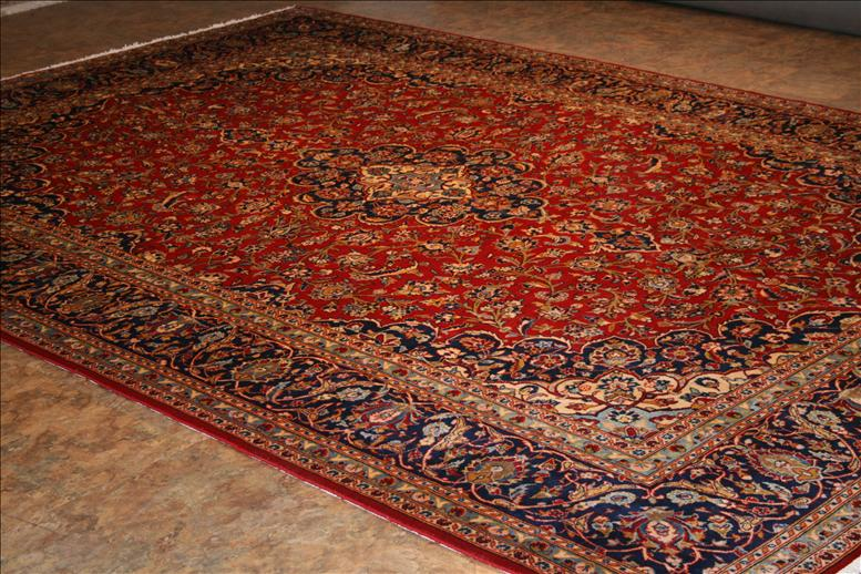 Elegant 656 Kashan rugs - This Traditional rug is approx imately 9 feet 5 red persian rug