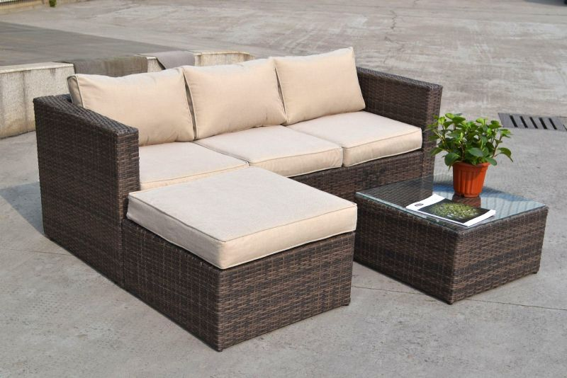 Elegant All Seasons Costa Rica Rattan Corner Sofa In Brown rattan corner sofa set