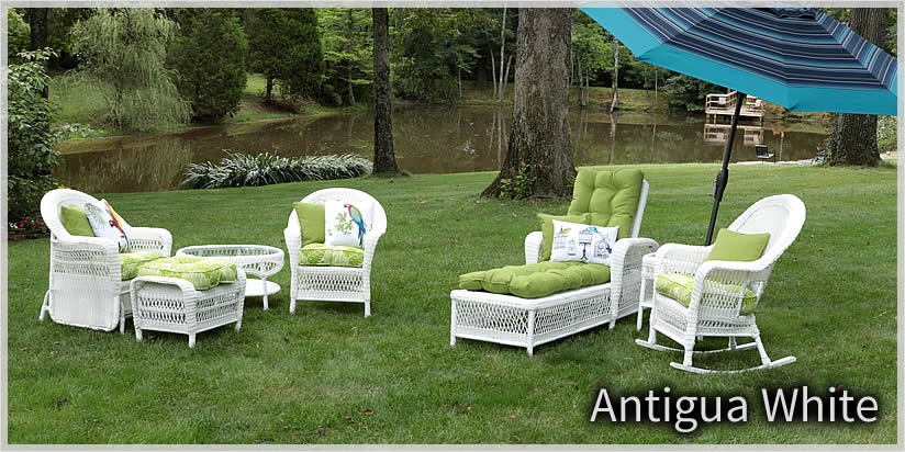 Elegant Antigua White Wicker Outdoor Patio Furniture white wicker patio furniture